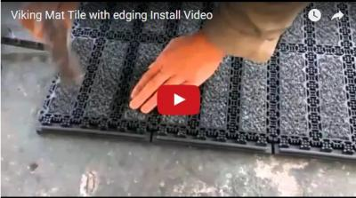 Viking Mat Tile with edging Install Video