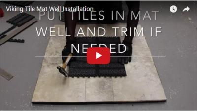 Viking Tile Mat Well Installation